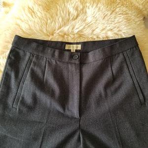 Vintage High Waisted Pleated Dark Grey Pants